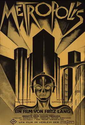 Metropolis - 27 x 40 Movie Poster - German Style D
