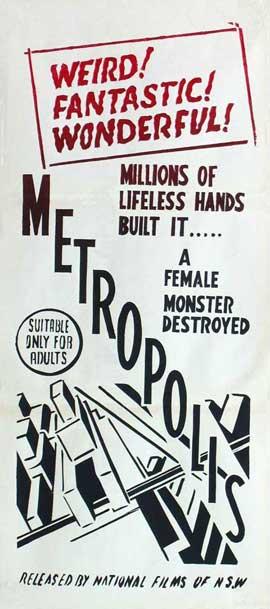 Metropolis - 13 x 30 Movie Poster - Australian Style A