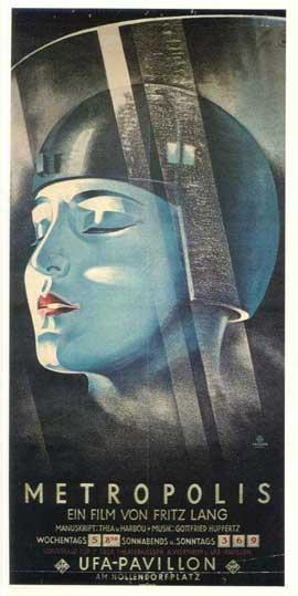Metropolis - 11 x 17 Movie Poster - German Style F