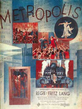 Metropolis - 11 x 17 Movie Poster - German Style H