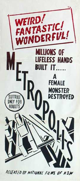 Metropolis - 11 x 17 Movie Poster - Style N