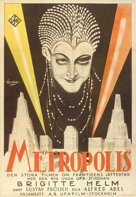 Metropolis - 11 x 17 Movie Poster - Swedish Style A