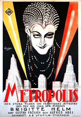 Metropolis - 27 x 40 Movie Poster - Swedish Style A