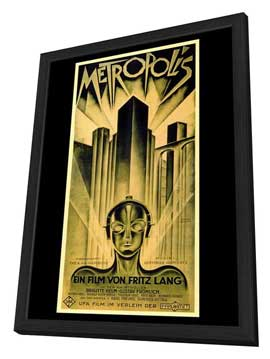 Metropolis - 11 x 17 Movie Poster - Style B - in Deluxe Wood Frame