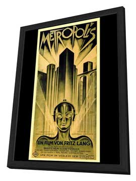 Metropolis - 27 x 40 Movie Poster - Style B - in Deluxe Wood Frame