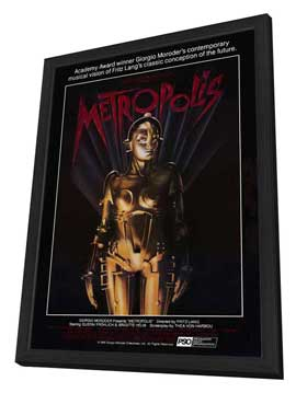 Metropolis - 27 x 40 Movie Poster - Style F - in Deluxe Wood Frame