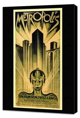 Metropolis - 11 x 17 Movie Poster - German Style B - Museum Wrapped Canvas