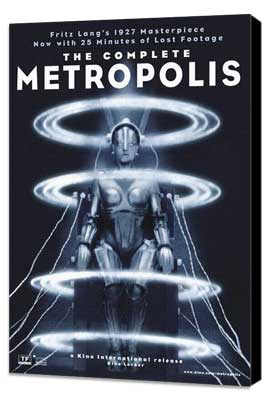 Metropolis - 11 x 17 Movie Poster - Style Q - Museum Wrapped Canvas