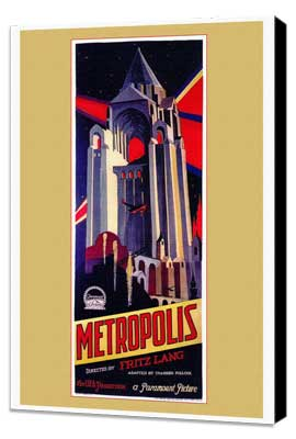 Metropolis - 27 x 40 Movie Poster - Style A - Museum Wrapped Canvas