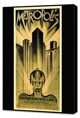 Metropolis - 27 x 40 Movie Poster - Style B - Museum Wrapped Canvas