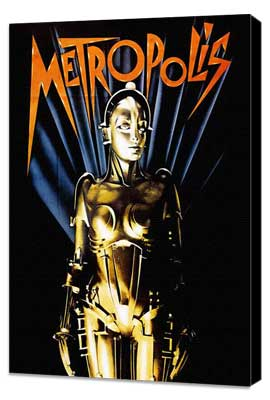 Metropolis - 27 x 40 Movie Poster - Style D - Museum Wrapped Canvas