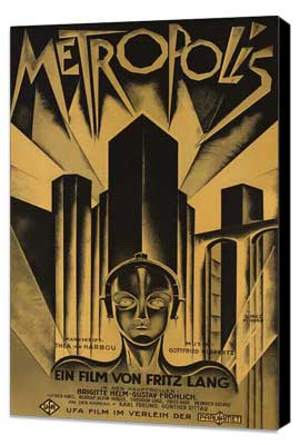 Metropolis - 27 x 40 Movie Poster - German Style D - Museum Wrapped Canvas