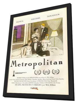 Metropolitan - 27 x 40 Movie Poster - Spanish Style A - in Deluxe Wood Frame