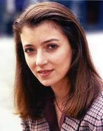 Mia Sarah - Mia Sara in Blue Stripe Long Sleeve Close-up Portrait