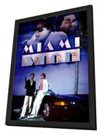 Miami Vice (TV) - 11 x 17 TV Poster - Style I - in Deluxe Wood Frame
