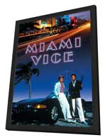 Miami Vice (TV) - 27 x 40 TV Poster - Style F - in Deluxe Wood Frame