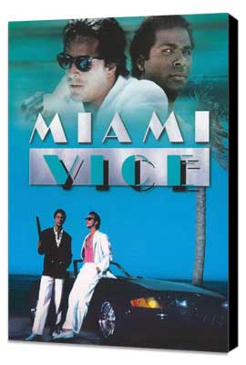 Miami Vice (TV) - 27 x 40 TV Poster - Style D - Museum Wrapped Canvas