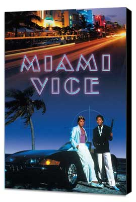 Miami Vice (TV) - 27 x 40 TV Poster - Style F - Museum Wrapped Canvas