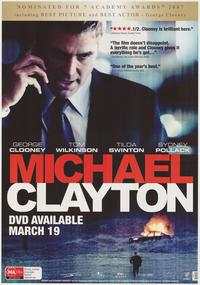 Michael Clayton - 43 x 62 Movie Poster - Bus Shelter Style B