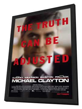 Michael Clayton - 11 x 17 Movie Poster - Style A - in Deluxe Wood Frame