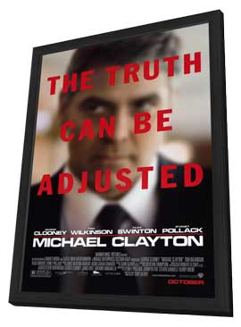 Michael Clayton - 27 x 40 Movie Poster - Style A - in Deluxe Wood Frame