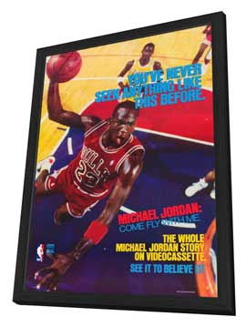 Michael Jordan: Come Fly with Me - 27 x 40 Movie Poster - Style A - in Deluxe Wood Frame