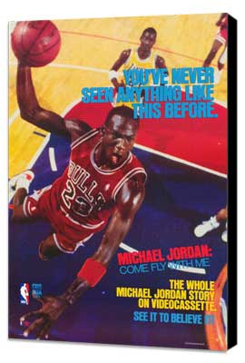 Michael Jordan: Come Fly with Me - 27 x 40 Movie Poster - Style A - Museum Wrapped Canvas