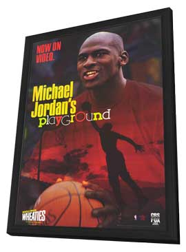 Michael Jordan's Playground - 11 x 17 Movie Poster - Style A - in Deluxe Wood Frame