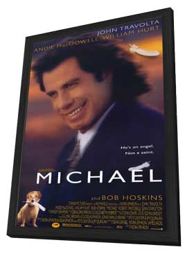 Michael - 11 x 17 Movie Poster - Style A - in Deluxe Wood Frame