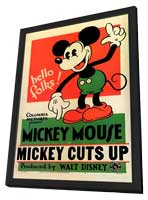Mickey Cuts Up - 11 x 17 Movie Poster - Style A - in Deluxe Wood Frame