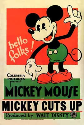 Mickey Cuts Up - 11 x 17 Movie Poster - Style A