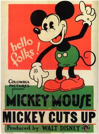 Mickey Cuts Up - 43 x 62 Movie Poster - Bus Shelter Style A