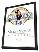 Mickey Mouse 60th Anniversary Gallery - 11 x 17 Movie Poster - Style A - in Deluxe Wood Frame