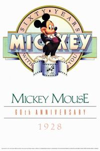 Mickey Mouse 60th Anniversary Gallery - 11 x 17 Movie Poster - Style A