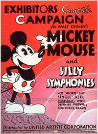 Mickey Mouse and Silly Symphonies - 27 x 40 Movie Poster - Style A