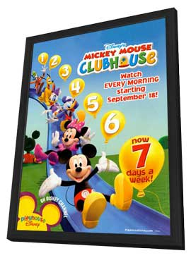 Mickey Mouse Clubhouse (TV) - 11 x 17 TV Poster - Style A - in Deluxe Wood Frame