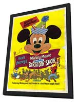 Mickey Mouse Happy Birthday Show - 11 x 17 Movie Poster - Style A - in Deluxe Wood Frame