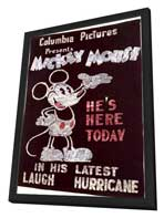Mickey Mouse - 11 x 17 Movie Poster - Style A - in Deluxe Wood Frame