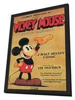 Mickey Mouse - 11 x 17 Movie Poster - Style B - in Deluxe Wood Frame