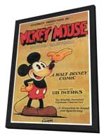 Mickey Mouse - 27 x 40 Movie Poster - Style B - in Deluxe Wood Frame