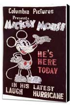 Mickey Mouse - 11 x 17 Movie Poster - Style A - Museum Wrapped Canvas