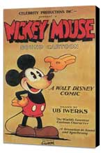 Mickey Mouse - 11 x 17 Movie Poster - Style B - Museum Wrapped Canvas