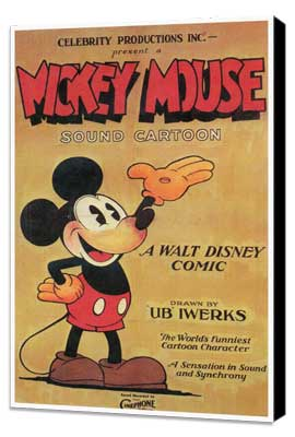 Mickey Mouse - 27 x 40 Movie Poster - Style B - Museum Wrapped Canvas