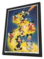 Mickey Mouse - 11 x 17 Movie Poster - Style C - in Deluxe Wood Frame