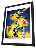 Mickey Mouse - 27 x 40 Movie Poster - Style A - in Deluxe Wood Frame