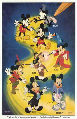 Mickey Mouse - 11 x 17 Movie Poster - Style C
