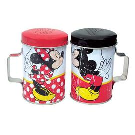 Mickey Mouse - Mickey and Minnie Mouse Kiss Tin Salt and Pepper Shakers