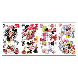 Mickey Mouse - Minnie Mouse Loves to Shop Peel and Stick Wall Decals