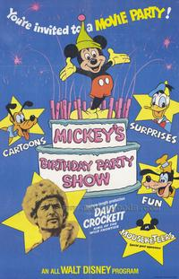 Mickey's Birthday Party Show - 43 x 62 Movie Poster - Bus Shelter Style A