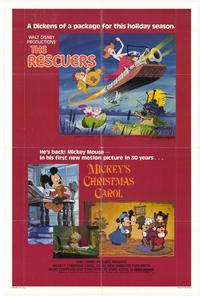 Mickey's Christmas Carol /Rescuers - 11 x 17 Movie Poster - Style A